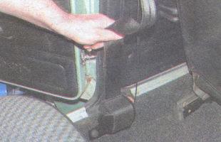 Установка ремня безопасности на ваз 2107 схема7