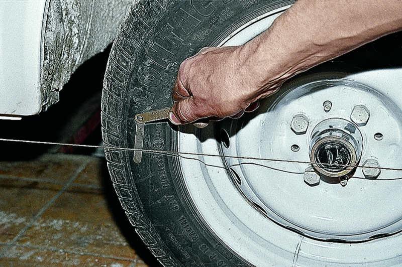 Схождение колес на ваз 2107 своими руками 89