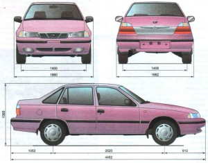 Кузовные размеры Дэу Нексия: слабые запчасти кузова, ремонт и многое другое