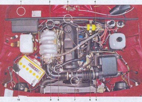 Cистема управления двигателем автомобиля ваз 2107