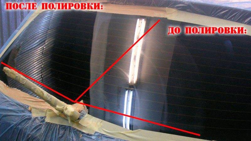 Полировка лобового стекла от царапин своими руками.