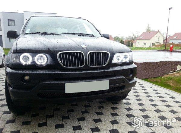 Замена передних фар на BMW X5