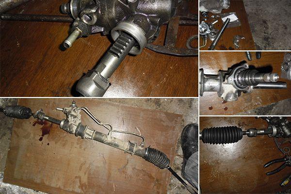 Ремонт рулевой рейки с гидроусилителем своими руками 68