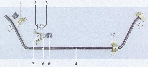 замена втулок и штанги стабилизатора поперечной устойчивости на автомобиле ваз 2107