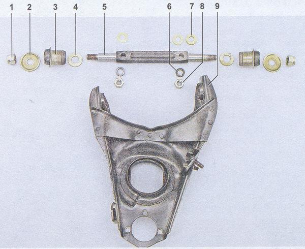 снятие и установка нижнего рычага передней подвески на автомобиль ваз 2107