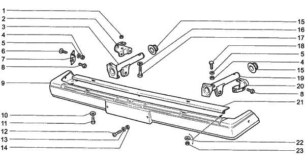 Снятие и установка бамперов на классике