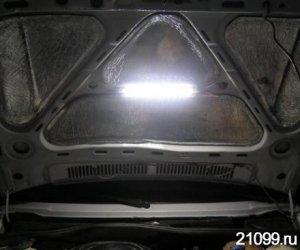 Lada kalina: освещаем подкапотное пространство