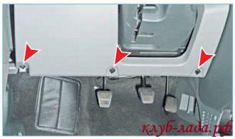 Снятие и установка панели (торпедо) Приоры