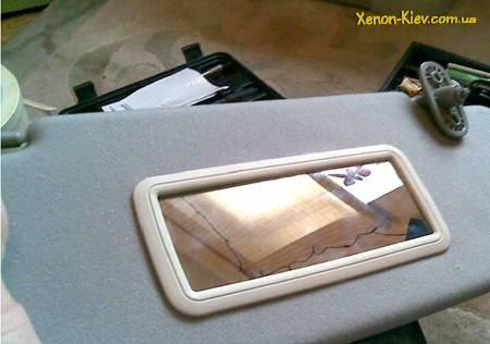 Установка зеркал в солнцезащитные козырьки ВАЗ своими руками