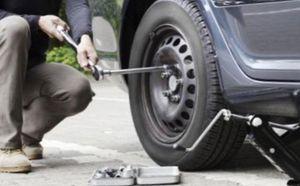 замена колеса на авто